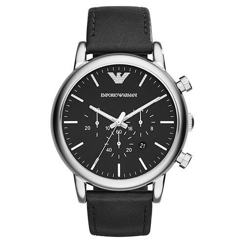 OROLOGIO AR1828 UOMO EMPORIO ARMANI - Con cinturino in pelle nero e cronografo orologi urban loop