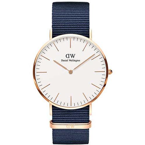 DANIEL WELLINGTON - DW00100275 - Orologio - cinturino blu dettagli argento uomo orologi originali urban loop