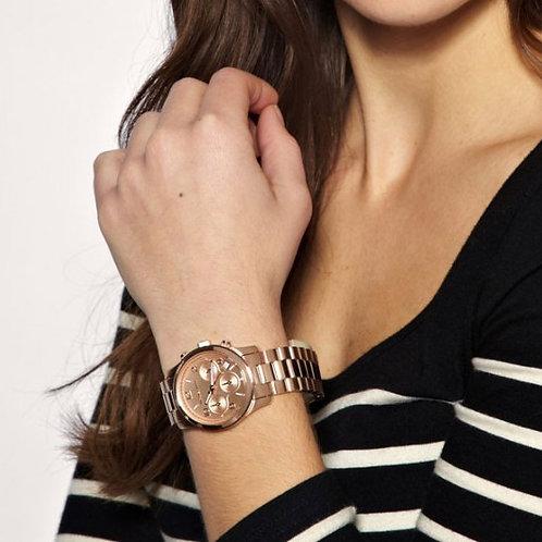 MICHAEL KORS MK5128 RUNWAY - Orologio donna in acciaio rosa con cronografo