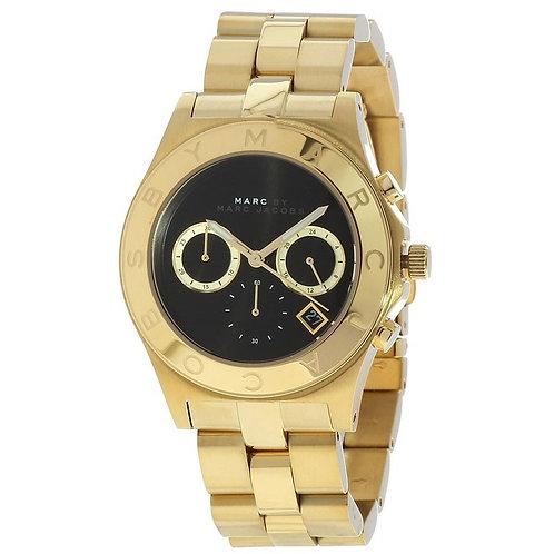 MARC JACOBS - Orologio donna MBM3309 oro dorato acciaio nero orologi urban loop