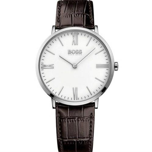 dda6052035 HUGO BOSS HB1513373 - Orologio uomo in acciaio con cinturino in pelle  marrone orologi urban loop