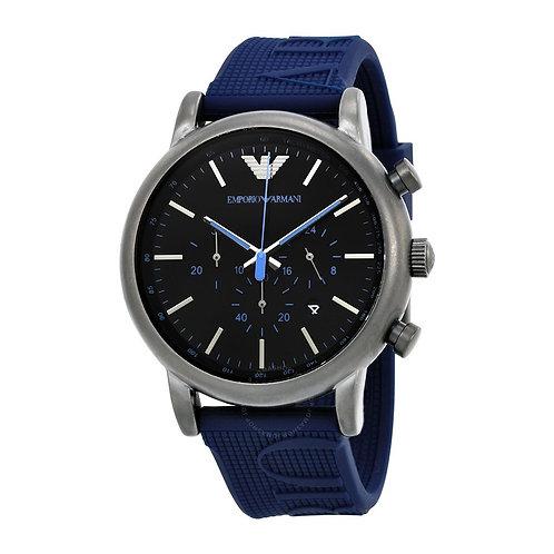 EMPORIO ARMANI - Orologio uomo AR11023 in acciaio e cinturino in silicone blu orologi scontati urban loop