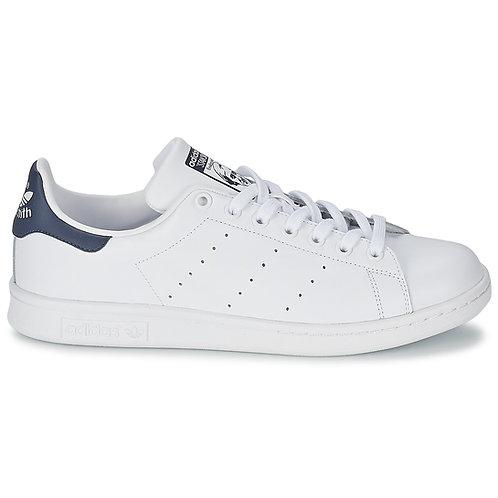 ADIDAS ORIGINALS - Sneakers STAN SMITH - Bianco / Blu scarpe uomo donna urban loop 2019 moda tendenza prezzi bassi