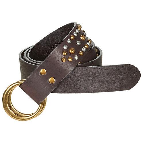 Polo Ralph Lauren - Double O Ring - Cintura in pelle marrone
