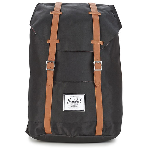 HERSCHEL - Zaino nero RETREAT +Colori uomo donna zaini vintage urban loop