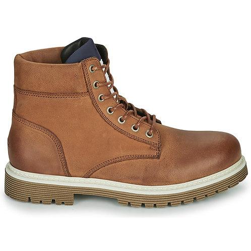 TOMMY JEANS - Outdoor nubuck boot - Stivaletti stringati marroni