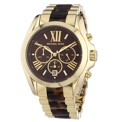 MICHAEL KORS MK5696 - Orologio donna in acciaio dorato e marrone orologi urban loop