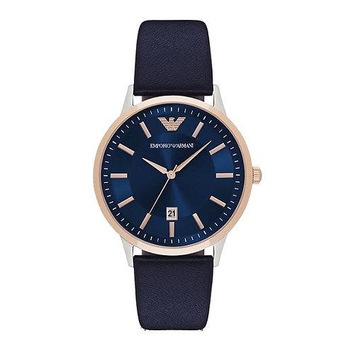 OROLOGIO AR2506 UOMO EMPORIO ARMANI - Con cinturino in pelle blu quadrante blu acciaio orologi urban loop