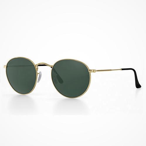 occhiali da sole round metal montatura in metallo vintage anni 90 prezzi bassi rotondi nero oro urban loop