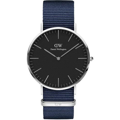 DW00100278 Black Bayswater Silver orologio uomo dw prezzi bassi sconti cassa nera urban loop