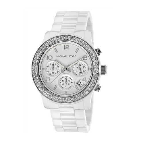 Michael Kors MK5188 - Orologio donna bianco con cronografo ceramica orologi donne 2017 2018 urban loop