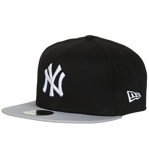 NEW ERA - MLB COTTON BLOCK NEW YORK YANKEES - Cappello Nero / Grigio