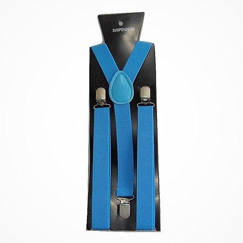 "Bretelle slim - Forma ""Y"" - Larghezza 2,5 cm - Azzurro"