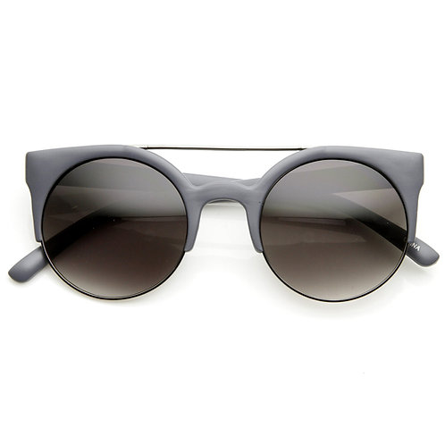 Occhiali da sole retrò CAT EYE con doppio ponte donna sunglasses occhi di gatto farfalla grigio 2018 urban loop