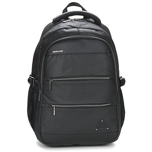zaino uomo donna nero ecopelle simil pelle unisex zaini viaggio travel bag DAVID JONES grande capiente backpacks urban loop