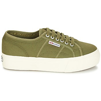 SUPERGA - Sneakers 2790 LINEA UP AND - Kaki scarpe sportive platform zeppa verde militare 2018 urban loop