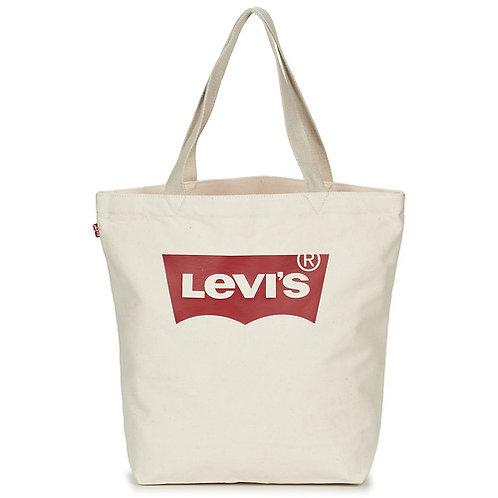LEVI'S - Borsa uomo donna shopper in tela tessuto BATWING TOTE W - Bianco Ecru a mano a spalla mare spiaggia 2019 urban loop