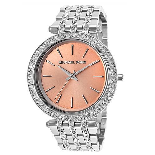 MICHAEL KORS MK3218 - Orologio donna in acciaio con quadrante beige/rosa orologi urban loop