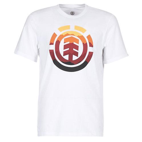 ELEMENT - T-shirt uomo HUES - Bianco manica corta mezze maniche cotone uomo surf skate streetwear urban loop
