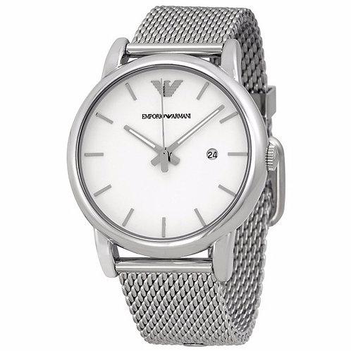 OROLOGIO AR1812 UOMO EMPORIO ARMANI - In acciaio silver argentato argento quadrante bianco orologi urban loop