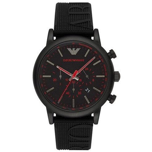 EMPORIO ARMANI - Orologio uomo AR11024 in acciaio e cinturino in silicone nero orologi scontati urban loop