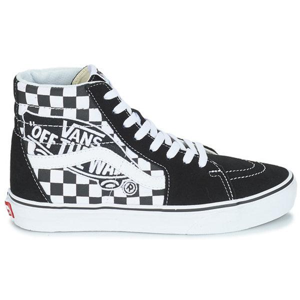 scarpe vans alte scacchi