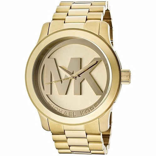 MICHAEL KORS MK5473 - Orologio unisex in acciaio dorato logo MK oro orologi urban loop