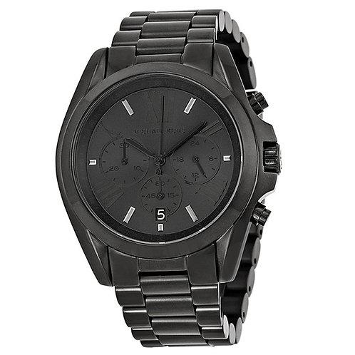 MICHAEL KORS MK5550 - Orologio uomo in acciaio nero con cronografo orologi total black urban loop