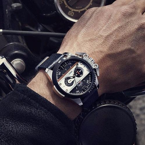 DZ4361 DIESEL - Orologio uomo con cinturino in pelle nero e cronografo orologi urban loop