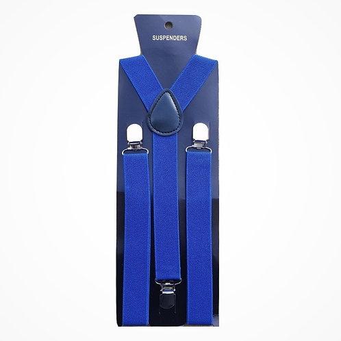 """Bretelle slim - Forma """"Y"""" - Larghezza 2,5 cm - Blu Elettrico"""
