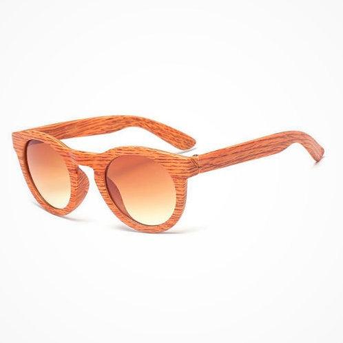 occhiali da sole effetto legno marrone chiaro wood vintage retrò urban loop