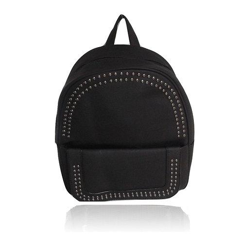 zaino zainetto eco pelle borchie metallo argento donna leather backpack borsa pelle accessori street style urban loop