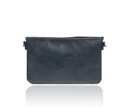 borsa pochette donna pelle ecopelle blu tracolla messenger busta a mano handbag urbansc
