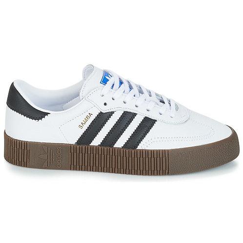 ADIDAS ORIGINALS - Sneakers SAMBAROSE W - Bianco / Nero donna scarpe moda tendenza 2019 prezzi bassi urban loop