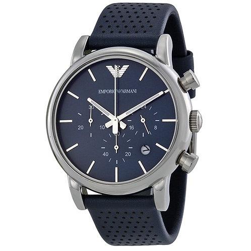 OROLOGIO AR1736 UOMO EMPORIO ARMANI - Con cinturino in pelle blu puntellato orologi  urban loop