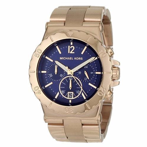 MICHAEL KORS MK5410 - Orologio unisex in acciaio con quadrante blu orologi uomo donna urban loop