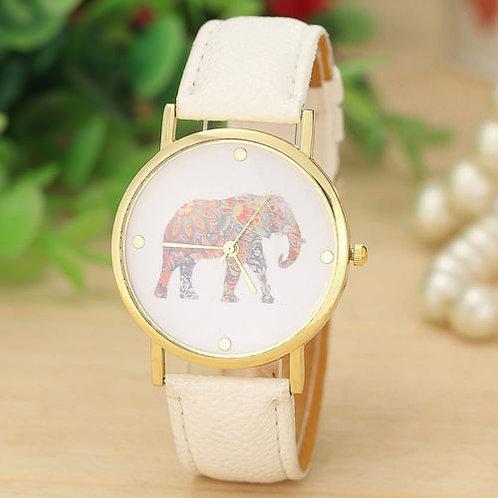 orologio uomo donna boho entico elefante bianco colorato polso vintage retrò urbansc
