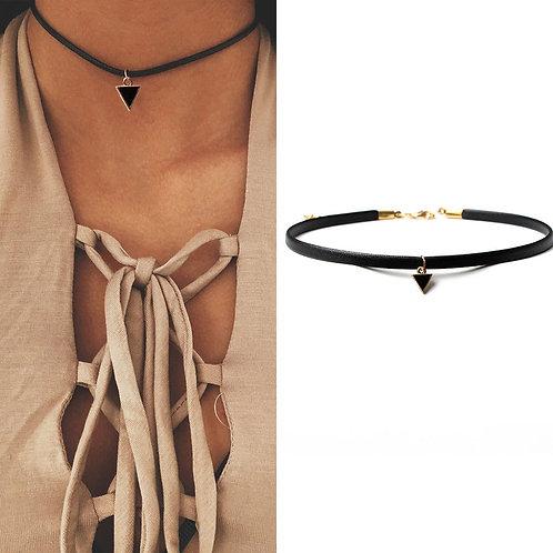 collana donna choker girocollo triangolino nero triangolo urban loop