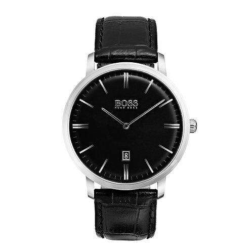 HUGO BOSS HB1513460 - Orologio uomo in acciaio con cinturino in pelle - Nero orologi urban loop
