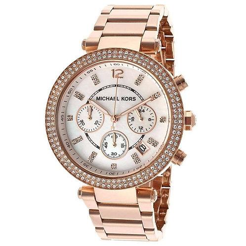 Michael Kors  MK5491- Orologio donna in acciaio oro rosa con cronografo