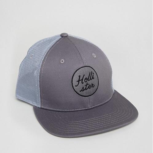 cappello uomo hollister berretto snapback visiera piatta cappellino traforato cappelli urban loop grigio due colori
