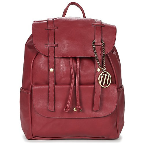 MOONY MOOD HEPI - Zaino in simil pelle - Bordeaux rosso uomo donna gibbie zaini backpacks urban loop