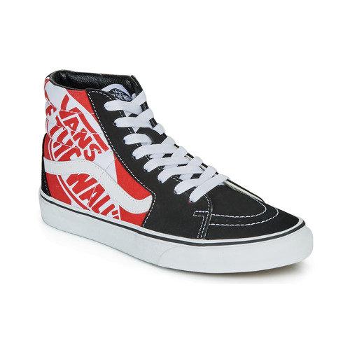 VANS - SK8-HI - Sneakers alte nere e rosse | urban-loop