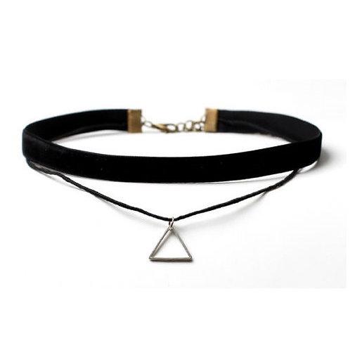 collana girocollo choker velluto nastro nastrino anni 90 fiocco nodo nera vintage triangolo urban loop