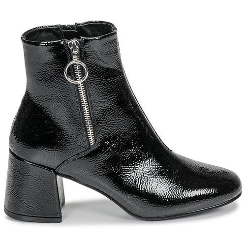 ONLY - Bimba Heeled Zip - Stivaletti in vernice neri con tacco e zip laterale