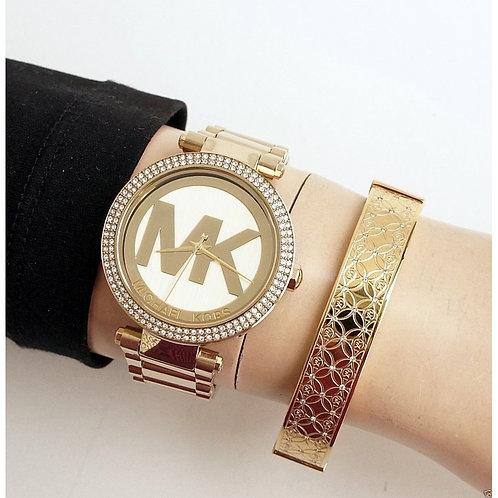MICHAEL KORS MK5784 - Orologio donna in acciaio inox dorato oro logo mk sconti urban loop