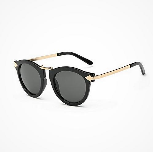 occhiali da sole uomo donna rotondi vintage retro sunglasses neri lenti fume specchio 2018 moda tendenza urban loop