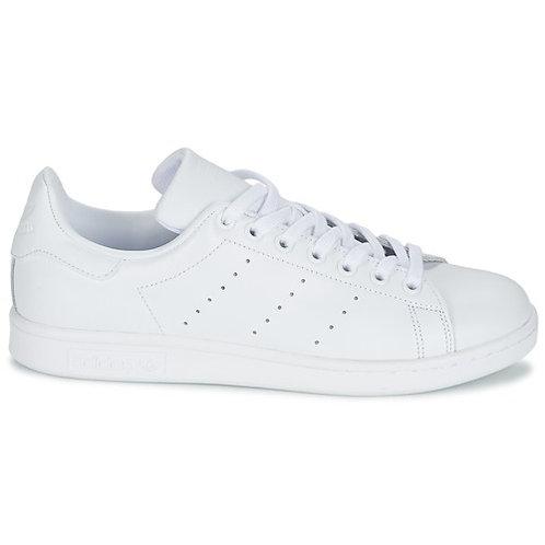 ADIDAS ORIGINALS - Sneakers STAN SMITH - Bianco uomo donna total white 2019 scarpe moda tendenza athleisure urban loop