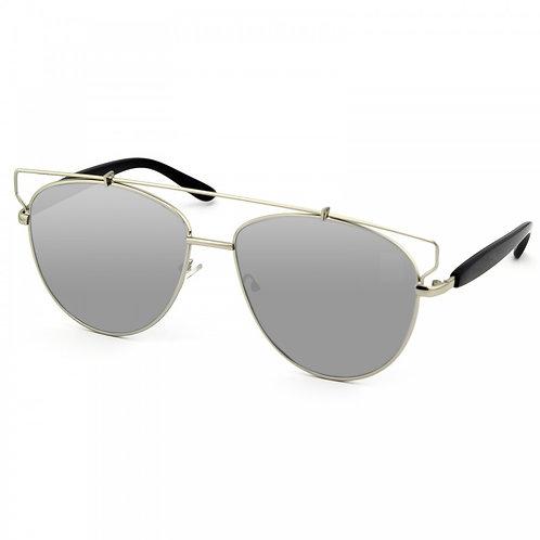 occhiali da sole donna cat eyes occhi digatto diamond specchio vintage oversize urban loop grigio