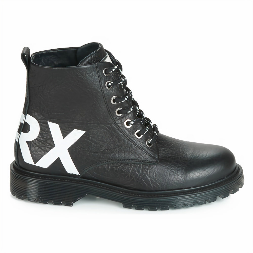 BRONX Rifka chunky Stivaletti neri stringati con logo